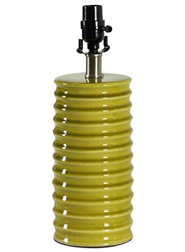 Stylecraft TL23334WM Ceramic Lime Green Ridged table lamp body only