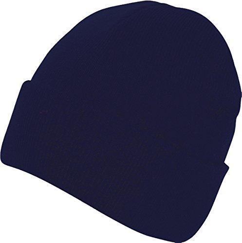 Absoluta ropa hombres adultos gorro Casualwear Beanie sombrero doble piel Pee Cap azul marino