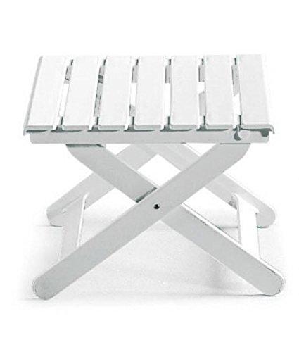 Tavolino Basso Da Giardino.Tavolino Basso Regolabile In Altezza Per Esterno Bianco Tavolo Resina 47x47x38h Tavolo Per Giardino