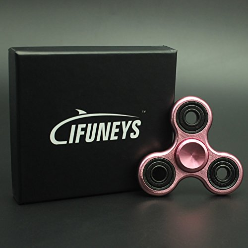 Fidget Spinner,IFUNEYS Metal Hand Spinner Stress Reliever Focus Desk Toy for EDC, ADD, ADHD, Autism. Spins up to 3 minutes. For Adults & Kids