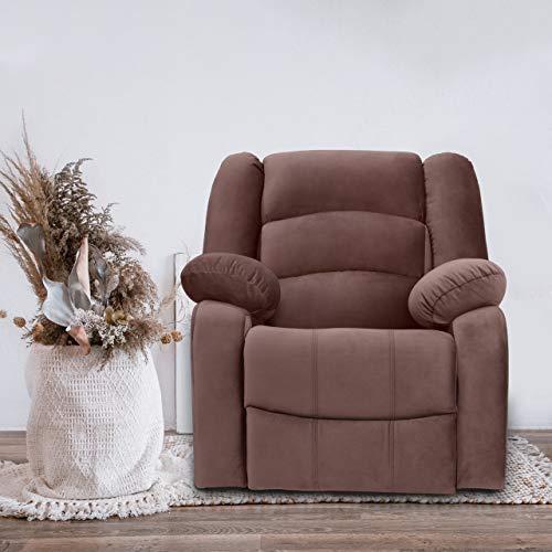 WellNap Fabric Manual Comfortable Recliner   Brown