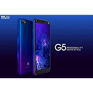 BLU G5 Unlocked Android V. 9 Pie Cell Phone 32GB Memory 2GB RAM 5.5 HD Display-Blue…