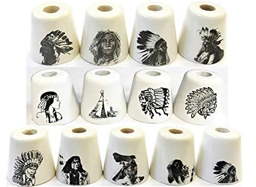 (2- Ceramic Indian Design Cigarette Snuffers, BUTT11-2)