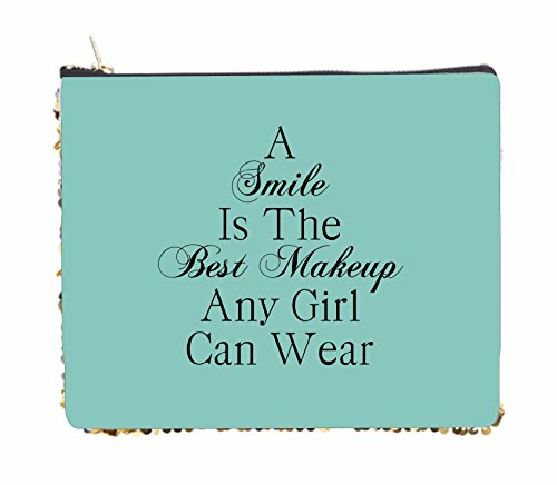 Smile Is The Best Makeup Quote In Blue
