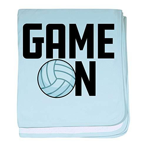 CafePress Emoji Volleyball Game On Baby Blanket, Super Soft Newborn Swaddle ()
