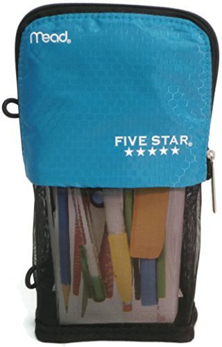 Mead Stand N Store Pencil Pouch, New Honey Comb Design (Teal) Acco Colored Binder