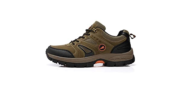 Men's Winter Anti-slip Hiking Shoes Waterproof Outdoor Breathable Shoes 38-44 ( Color : Army green  Size : 41 )