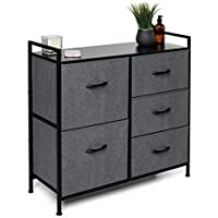 5 Drawer Dresser, Closet Storage Organizer, TV Stand, and Night Table - Chest of Drawers for Bedroom, Nursery Dresser…
