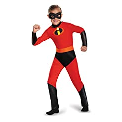 Disguise Dash Incredibles Child Costume with Metallic Logo and Detachable Belt