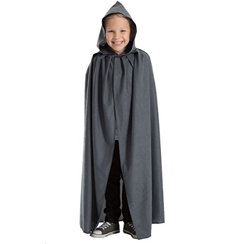 Charlie Crow Grey Cloak or Cape with Hood