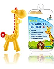 Inesita The Giraffe Baby teether Toy. Ritalia's Infant Teething Relief. Natural & Organic BPA Free. Chew Toys for Babies, Toddlers and Newborn. Box.