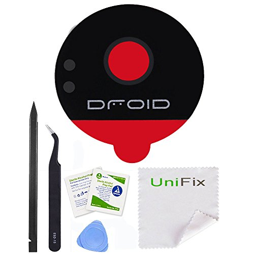 Unifix Back Rear Camera Glass Lens Replacement with Adhesive for For Motorola Moto Z Play XT1635 / Moto Z XT1650 (ALL CARRIERS) + Repair Tools
