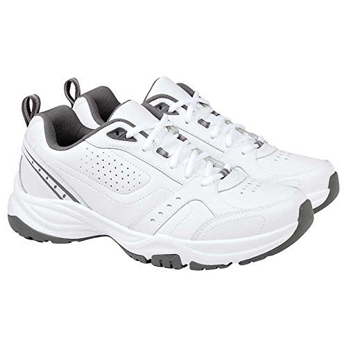 Kirkland Men's Signature Classic Athletic Shoes Sneakers White / Grey 13 M US