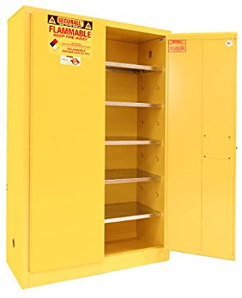 High Quality SECURALL P160 Paint/Ink Storage Cabinet, 2 Doors, 15 YR Warranty, 65