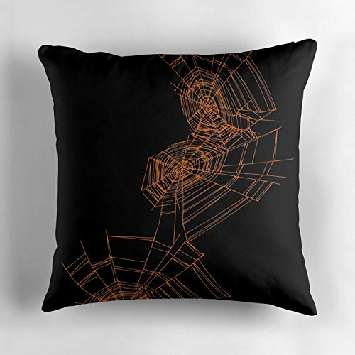 Jidmerrnm Halloween Spider Web Personalized Throw Pillow Case Cover Cotton Decorative Cushion Cover Square 18