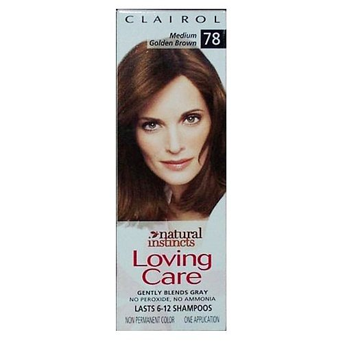 Cheap Clairol Loving Care Hair Color Crème Lotion 78 Medium Golden Brown for cheap