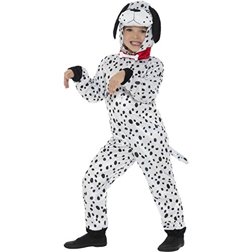 Children's Plush Dog Costume with Hooded Jumpsuit