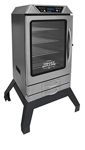 Smoke Hollow D4015SSS 40-Inch Digital Electric Smoker with Smoke-Tronix Bluetooth Technology, Stand Included, Stainless Steel