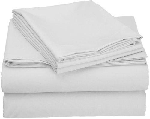 Clara Clark Grand 1200 Collection Solid Bed Sheet Set, Twin,