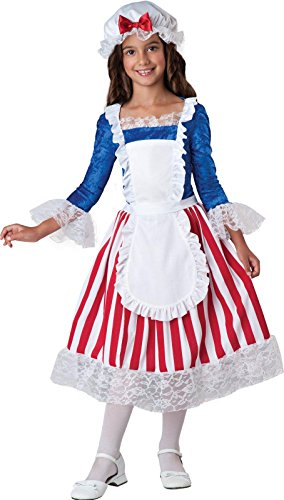 InCharacter Costumes Betsy Ross Costume, Size 8/Medium (Colonial Day Costumes)