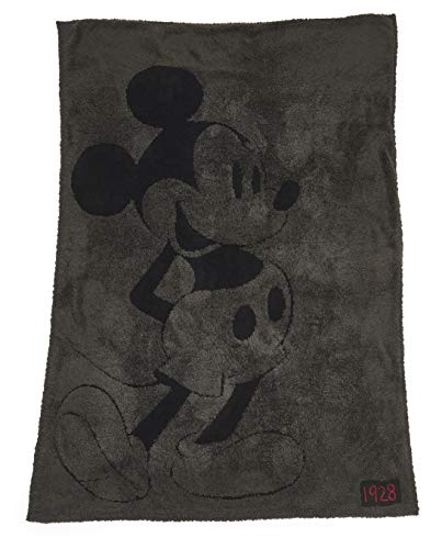 - Barefoot Dreams CozyChic Classic Mickey Mouse Blanket Disney Series, Soft Throw-Carbon/Black