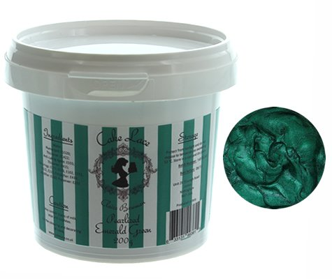 Claire Bowman Pre-Mixed Cake Lace - Pearlised Emerald Green 200g by CLAIRE BOWMAN