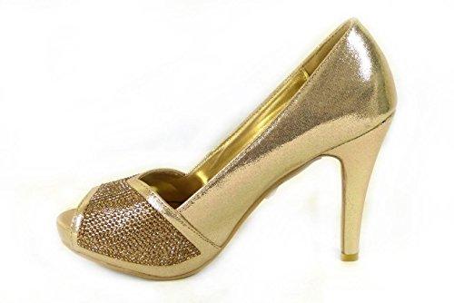 7 femme pour 567 Sandales Gold SKO'S pxqOwv6w