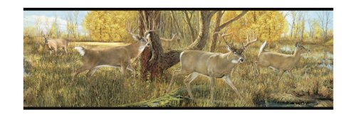 YORK LM7903BSMP Lake Forest Lodge Deer 8-Inch x 10-Inch W...
