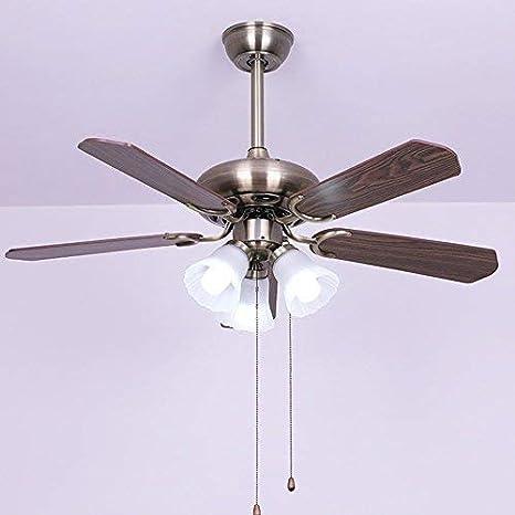 Iluminación de ventilador de 42 pulgadas en madera americana ...