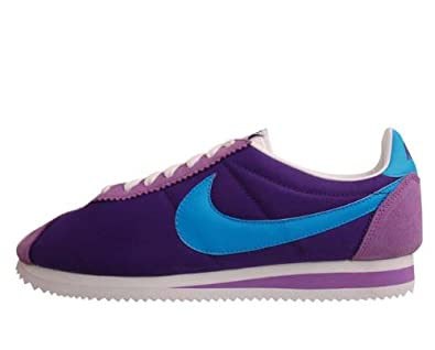 save off ccb21 af520 Amazon.com   Nike Classic Cortez Nylon Purple Blue Mens Retro Running  Casual Shoes 488291-500  US size 12    Shoes