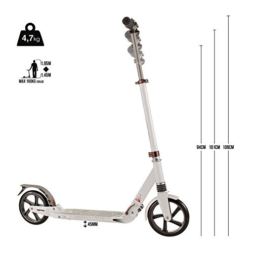 Patinete URBAN SCOOTER 7XL Suspensión Plegable Gran rueda 200 mm