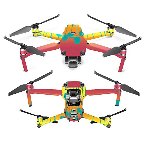 MightySkins Skin for DJI Mavic 2 Pro or Zoom - Sherbet Palms | Protective, Durable, and Unique Vinyl Decal wrap Cover | Easy to Apply, Remove, and Change Styles | Made in The USA