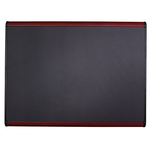 Quartet Prestige Plus Magnetic Fabric Bulletin Board, 4 x 3 Feet, Mahogany Finish Frame (MB544M) by Quartet