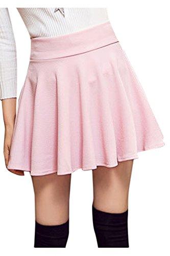 Mini Femmes Les Jupe Haute Sopliagon Taille Taille Plus Plisse Jupes Pink lgant 8p6Wnwnqg