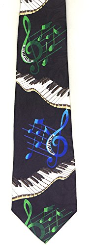 Keyboard & Color Notes Tie by Music Treasures Co.