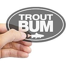 CafePress - Trout Bum Oval Sticker Sticker (Oval) - Oval Bumper Sticker, Euro Oval Car Decal