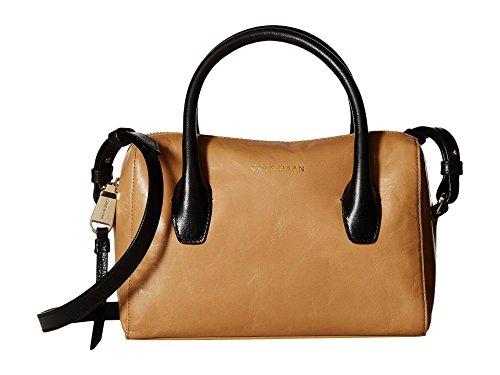 Cole Haan Mini (Cole Haan Women's Isabella II Mini Satchel Tan/Black Handbag)