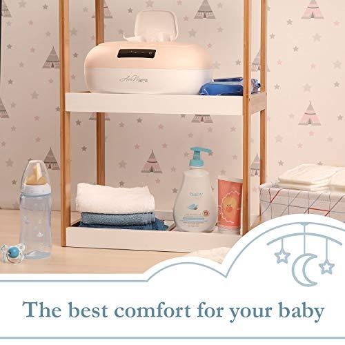 41WgEa0OzAL - Avec Maman - La Caresse, Baby Wipe Warmer - Designed In France | Wet Wipe Dispenser - Adjustable Heat Settings, Digital Display 2020]