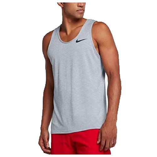Nike Men's Breathe Training Tank Top Light Grey/Black (XL)