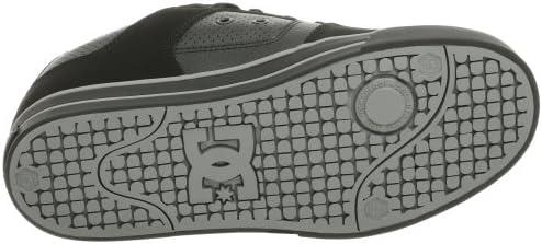 DC Men's Pure XE Skate Skateboarding Shoes Black/Gun Metal