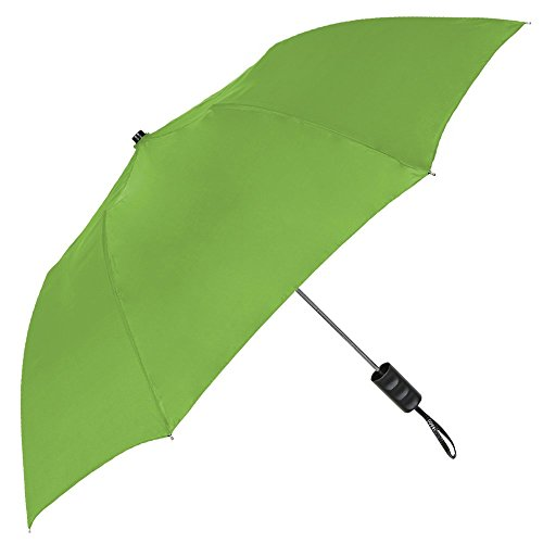StrombergBrand Spectrum Popular Style Automatic Open Close Small Light Weight Portable Compact Tiny Mini Travel Folding Umbrella for Men and Women, Lime Green (Umbrella Green Lime)