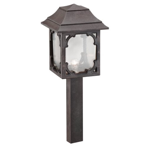 Intermatic Low Voltage Outdoor Cable - Intermatic CL083OB Malibu Low Voltage 7-Watt Metal Garden Light, Oil Rubbed Bronze with Seeded Globe