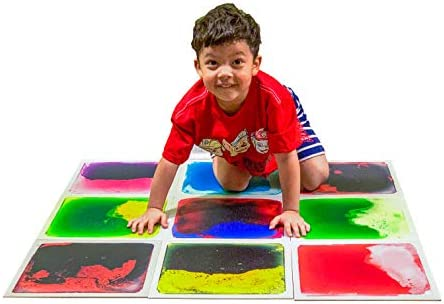 Art3d Liquid Fusion Activity Play Centers for Children, Toddler, Teens, 12″ X 12″ Pack of 9 Tiles