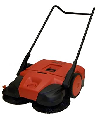 "Oreck Commercial PPS31D Deluxe Manual Triple Brush Push Power Sweeper, 31"" Width"