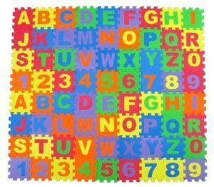 Play Right Alphabet and Number Foam Puzzle Playmat