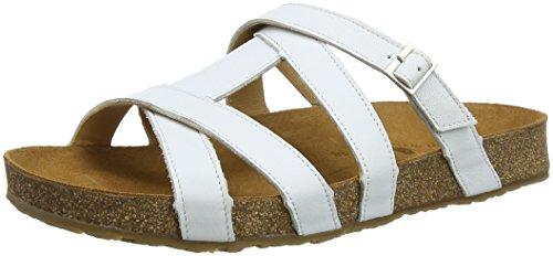 Haflinger Dames Sarah T-slides Sandalen Wit (white 698)