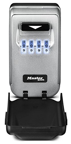 Master Lock Lock Box, Set Your Own Combination Wall Mount Key Safe with Light Up Dials, 2-7/8 in. Wide, 5425D
