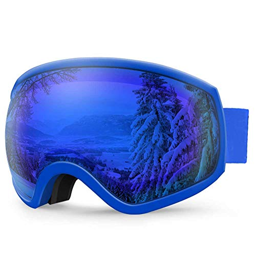 AKASO Ski Goggles, Snowboard Goggles - Anti-Fog, 100% UV Protection, Double-Layer Spherical Lenses, Helmet Compatible Snow Goggles for Men, Women & Youth (Explore Oregon Special Edition)