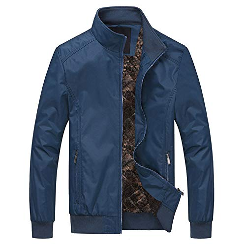 Men's Military Style Jacket, Stand Collar Spring and Autumn Casual Cotton Coat, A Durable Jacket Windbreaker