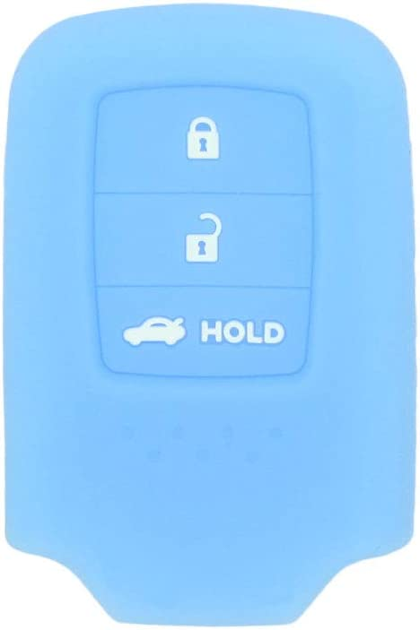 SEGADEN Silicone Cover Protector Case Skin Jacket fit for HONDA 3 Button Remote Key Fob Half Cover CV4224 Deep Purple